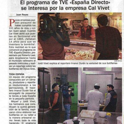 ESPAÑA DIRECTO A CAL VIVET