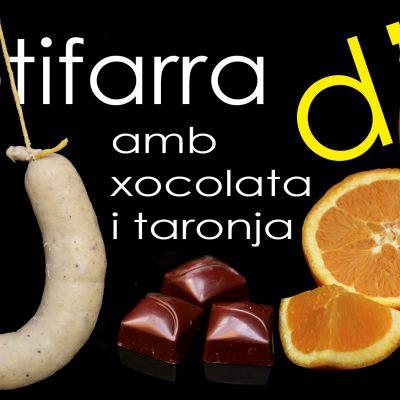BUTIFARRA DE HUEVO CON CHOCOLATE Y NARANJA