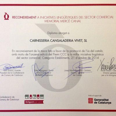 Diploma iniciativa linguïstica sector comercial