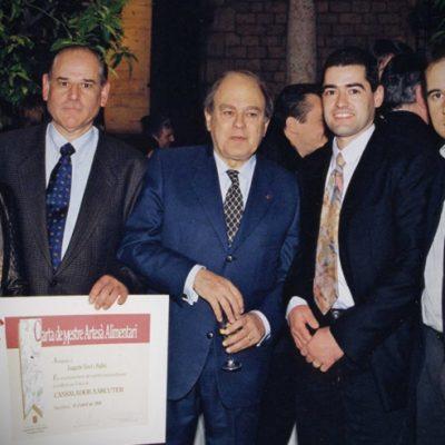Diploma a Joaquim Vivet Padró pels anys i la dedicació en aquest ofici i reconegut com a Mestre Artesà Alimentari: