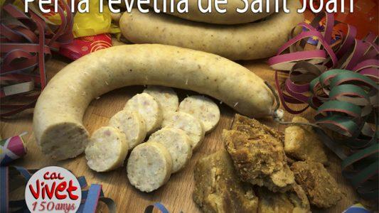 Per les verbenes, botifarra d'ou amb llardonets, bonissima...!!!