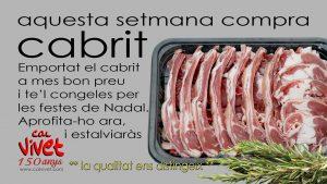 CABRIT A CAL VIVET APROFITA LA PROMOCIÓ...!!!