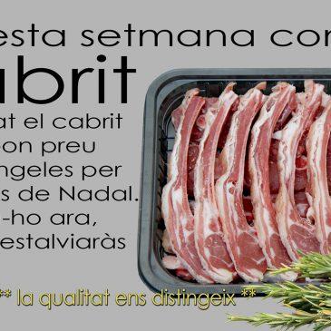 APROFITA LA PROMOCIÓ DE CABRIT !!!